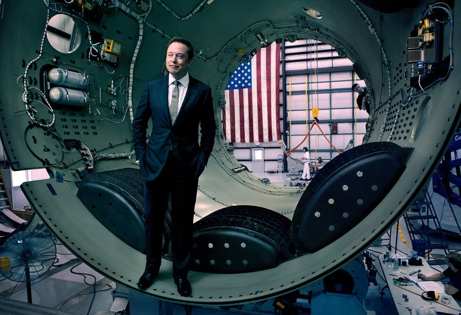 PROPHET MOTIVE Elon Musk, co-founder of Tesla and OpenAI, inside part of a SpaceX Falcon 9 rocket, in Cape Canaveral, Florida, 2010.
